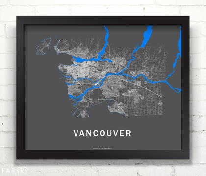 Far Sky Map Works Vancouver RoadNet map